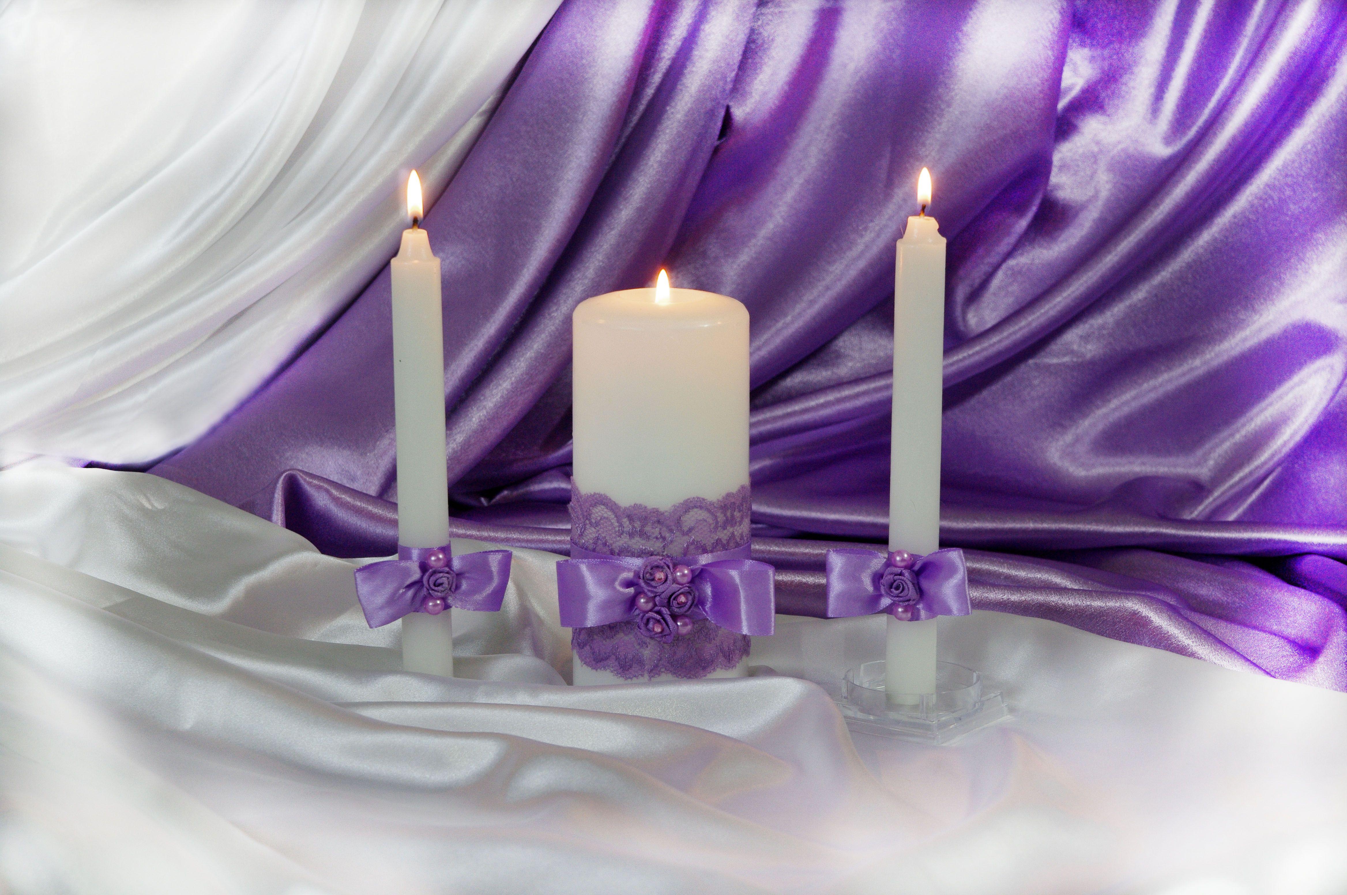 holiday candle rings violet gift set wedding bottle