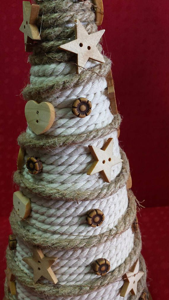 decor top christmas tree holiday table rustic cone