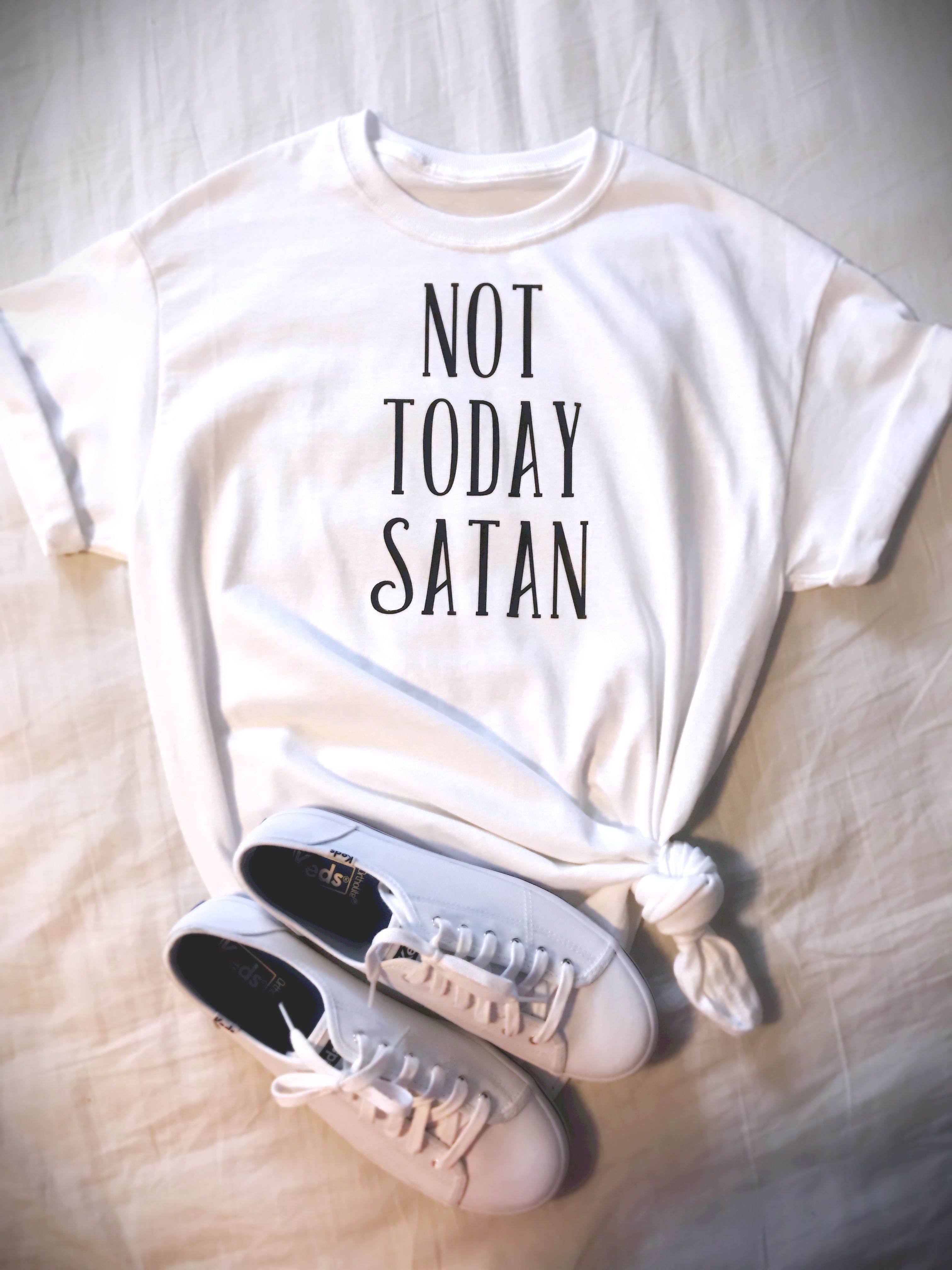 mom today tee not satan shirt