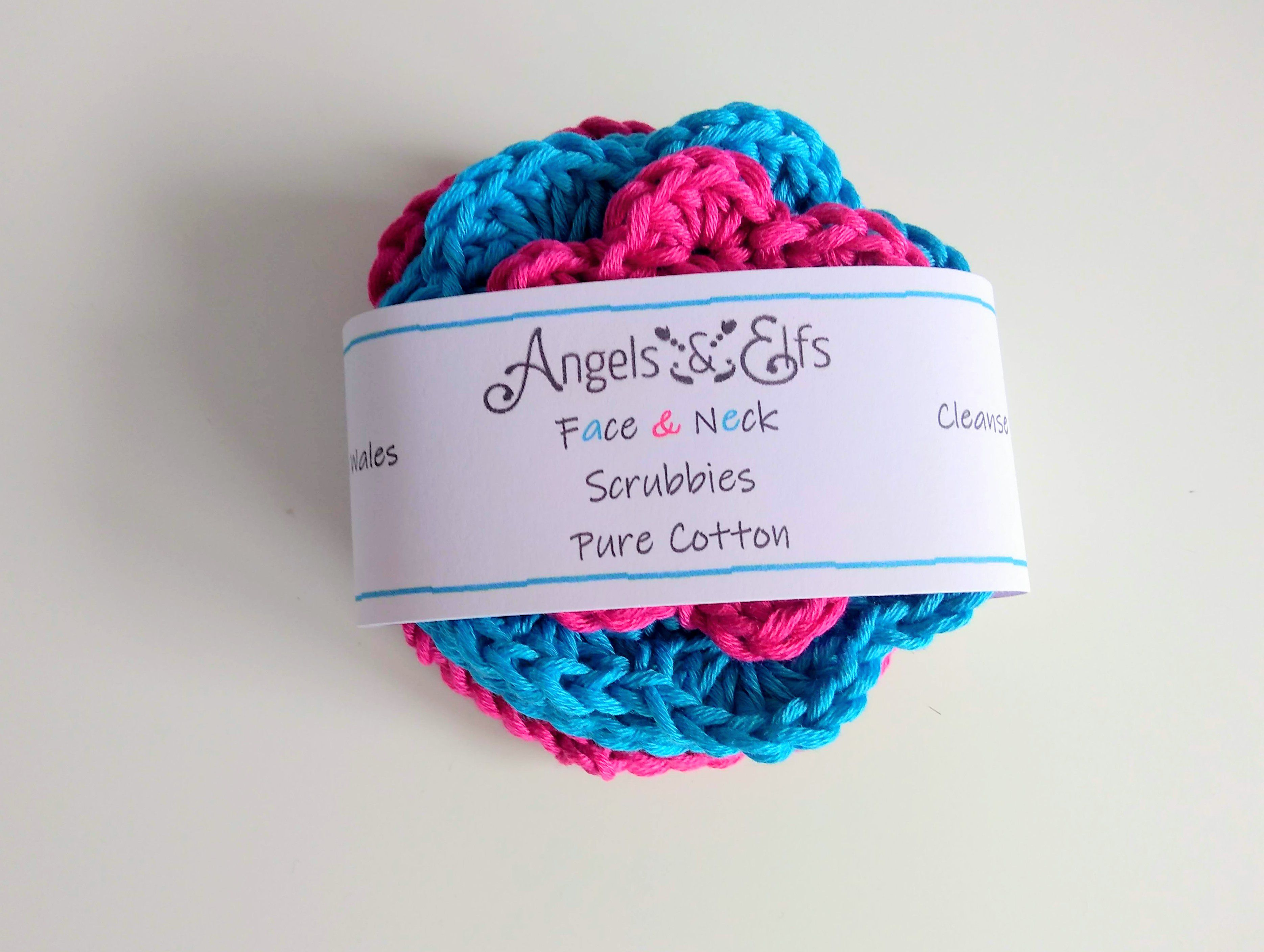 friendly scrubbies exfoliate cleanse and crochet pure eco handmade face neck cotton
