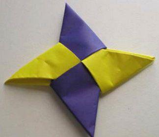 ninja make origami star paper