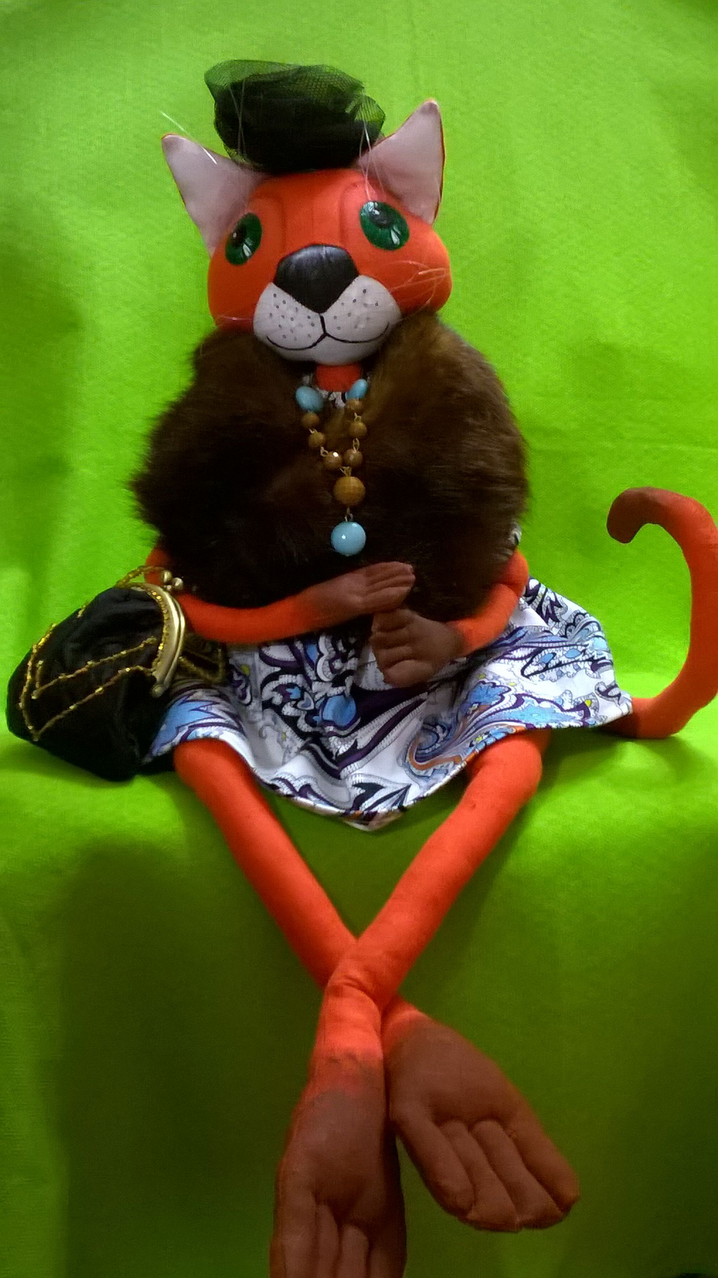handmade doll cat interior