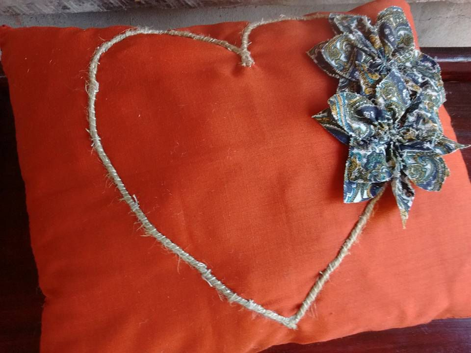 heart pillow crafts rustic upcycled country