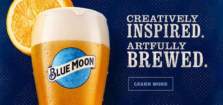 moon paint blue