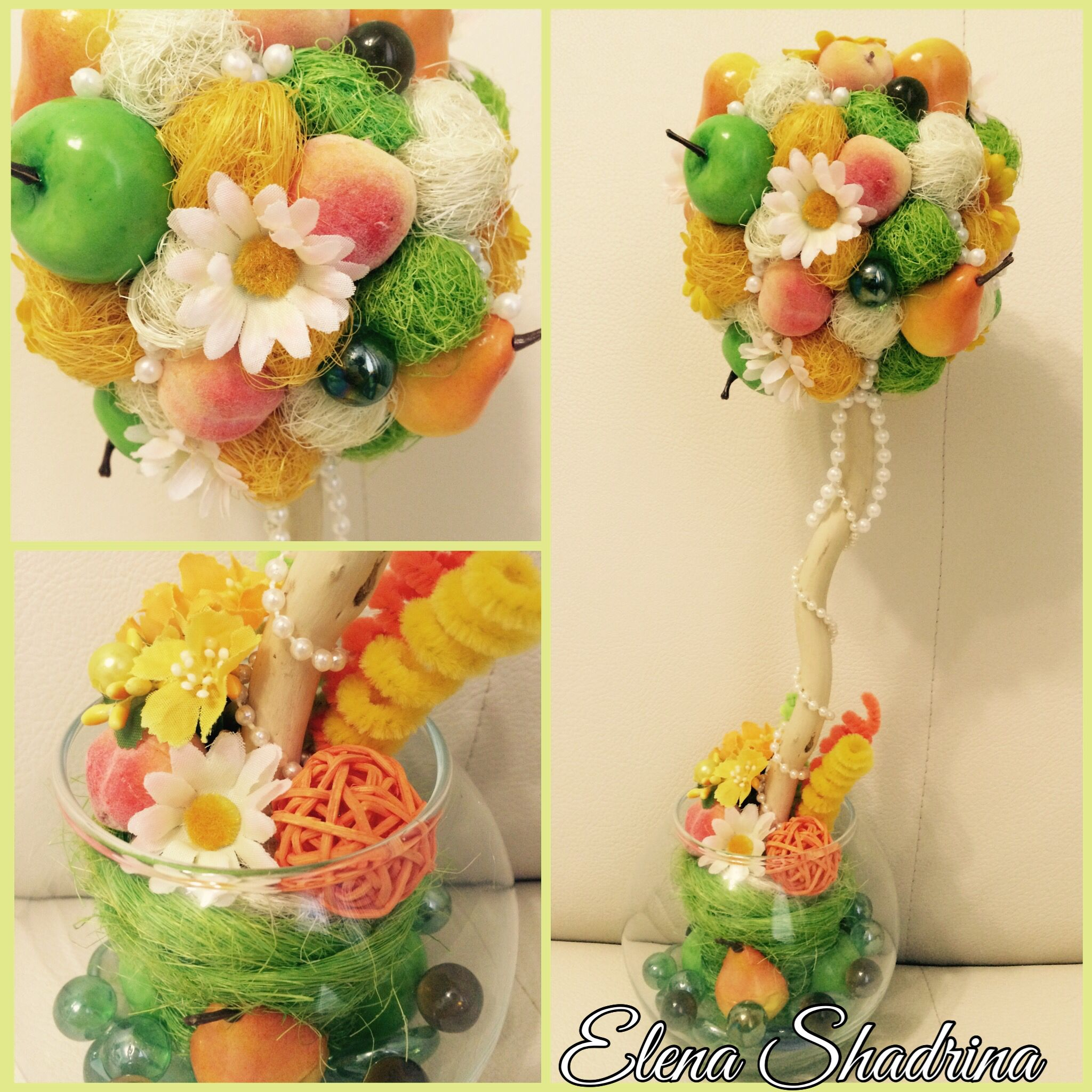 gift interior fruits tree happy topiary