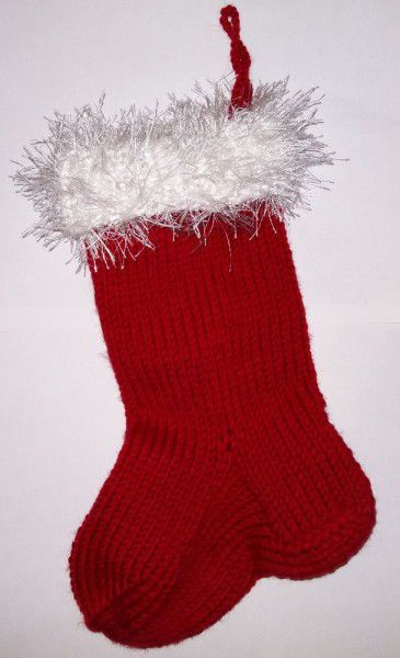stocking textile christmas knit goods