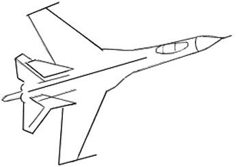 step airplanes draw pencil art