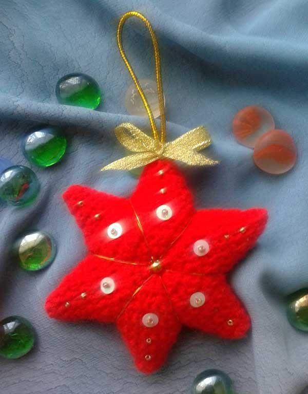 scheme star textile crochet goods