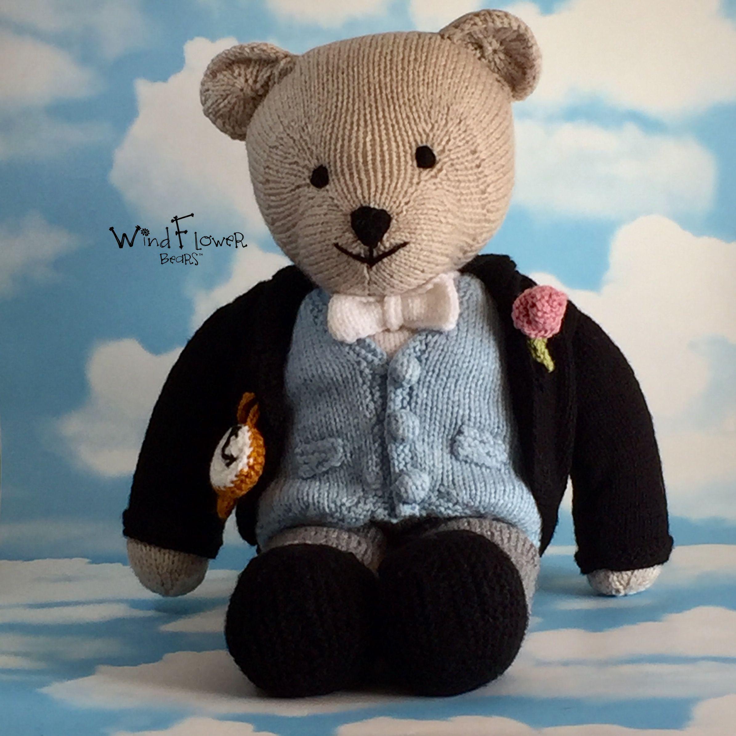 gift handmade bear wedding groom