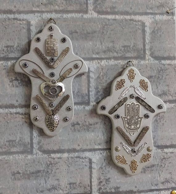 luck good charm silver wall decor hamsa