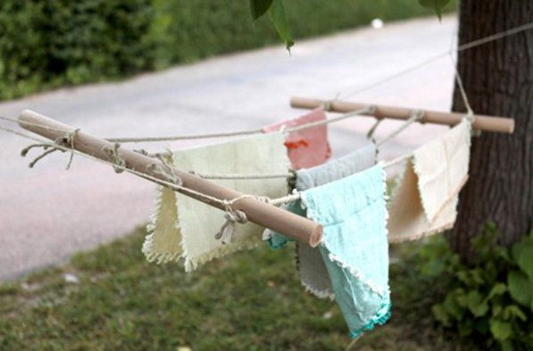 make instruction step clothesline twine