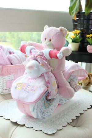make diaper cake motorcycle link