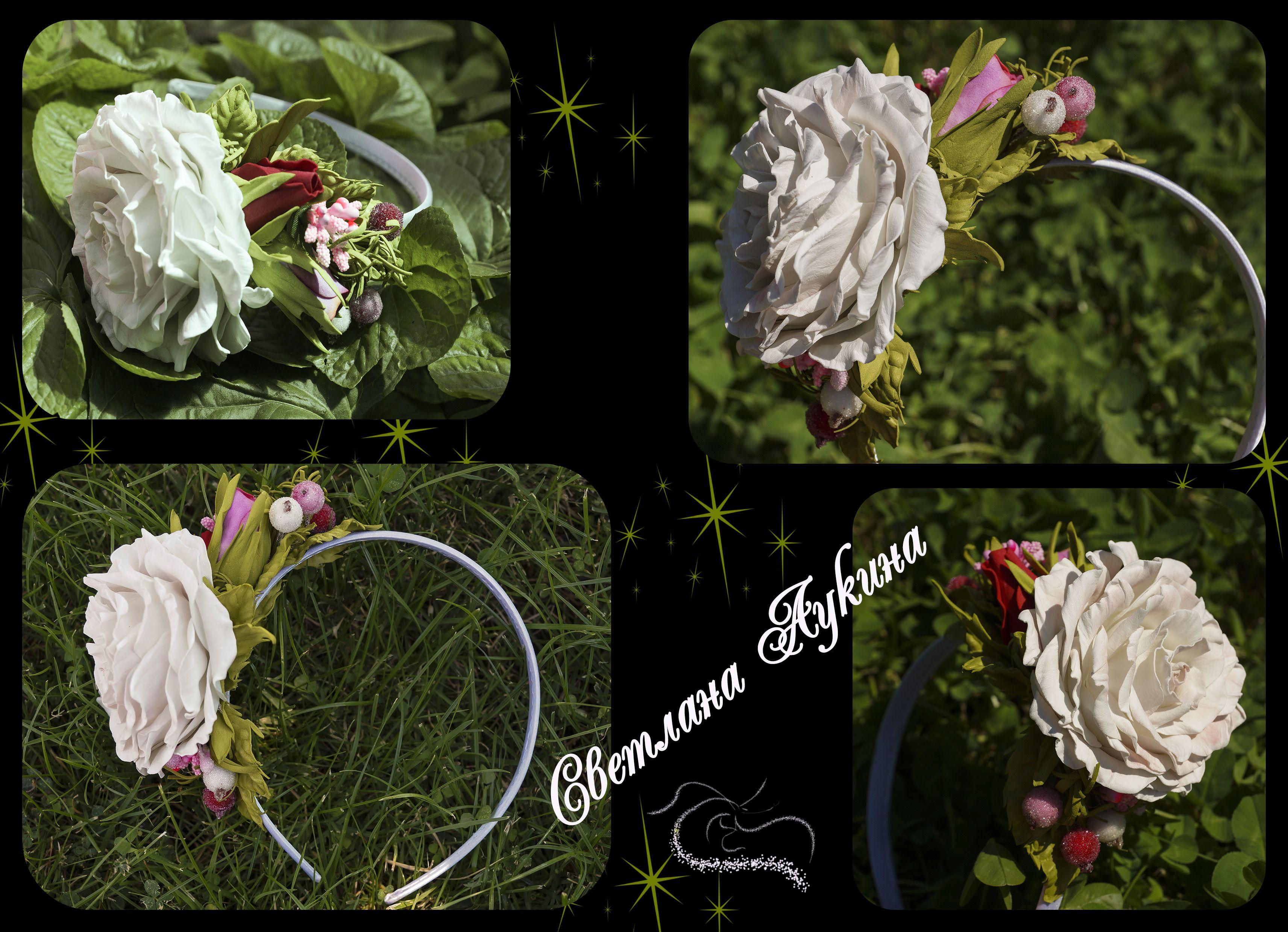 accessories flowers headband rose berries