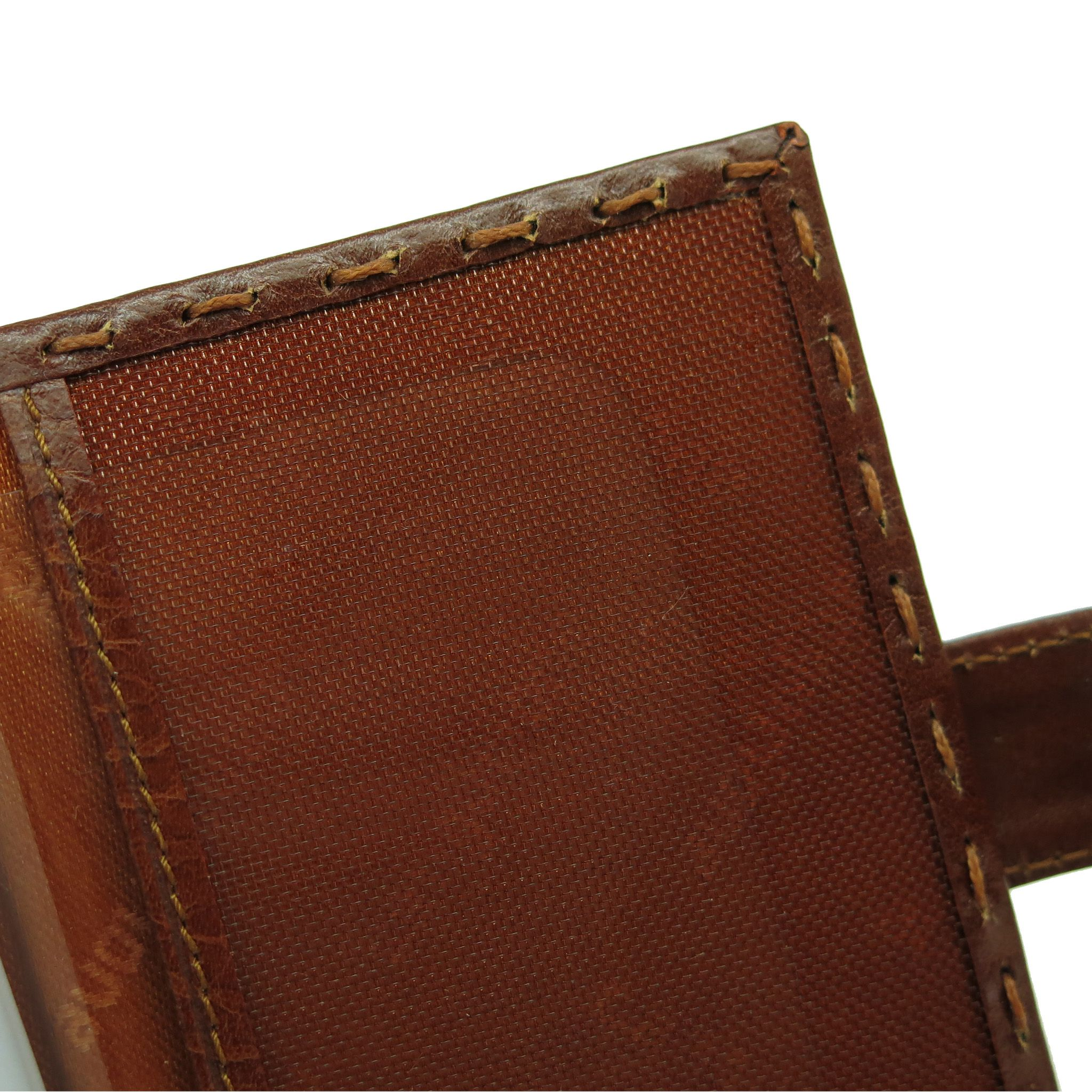 handmade leather accessories brown cardholder