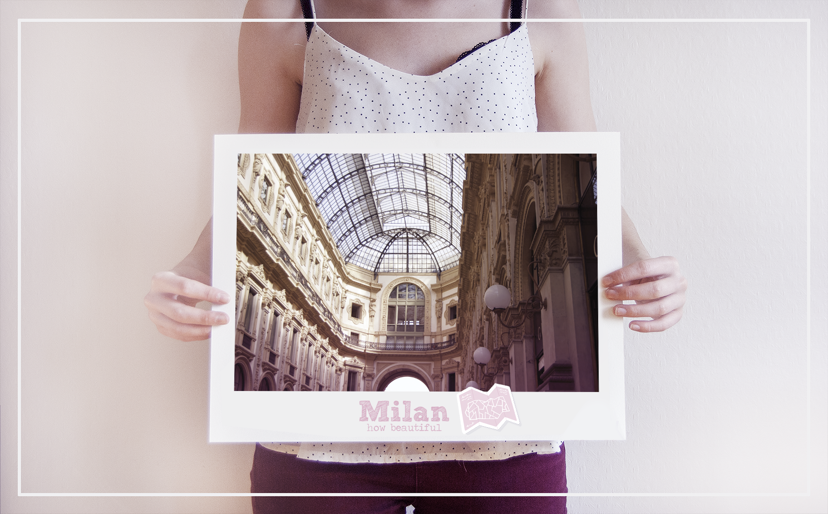 milan digital pink gift italy travel cityscape photography city print art