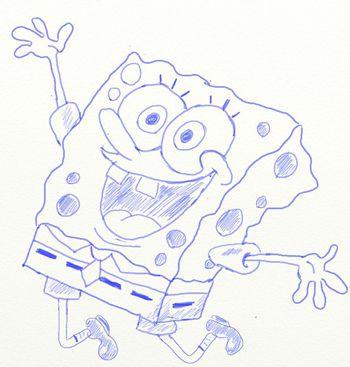 colored pencils spongebob draw art