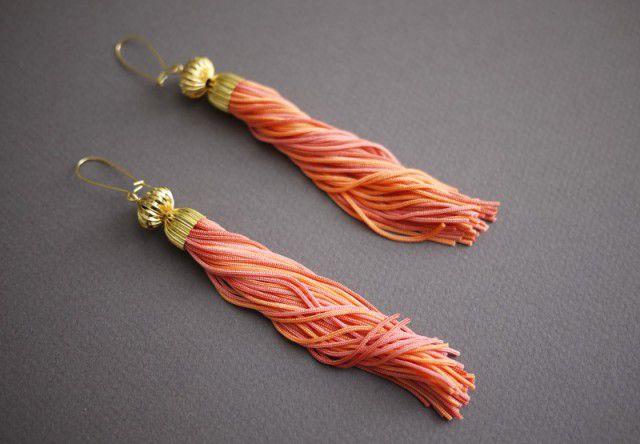 accessories vintage cute diy earrings ysl tassel cool