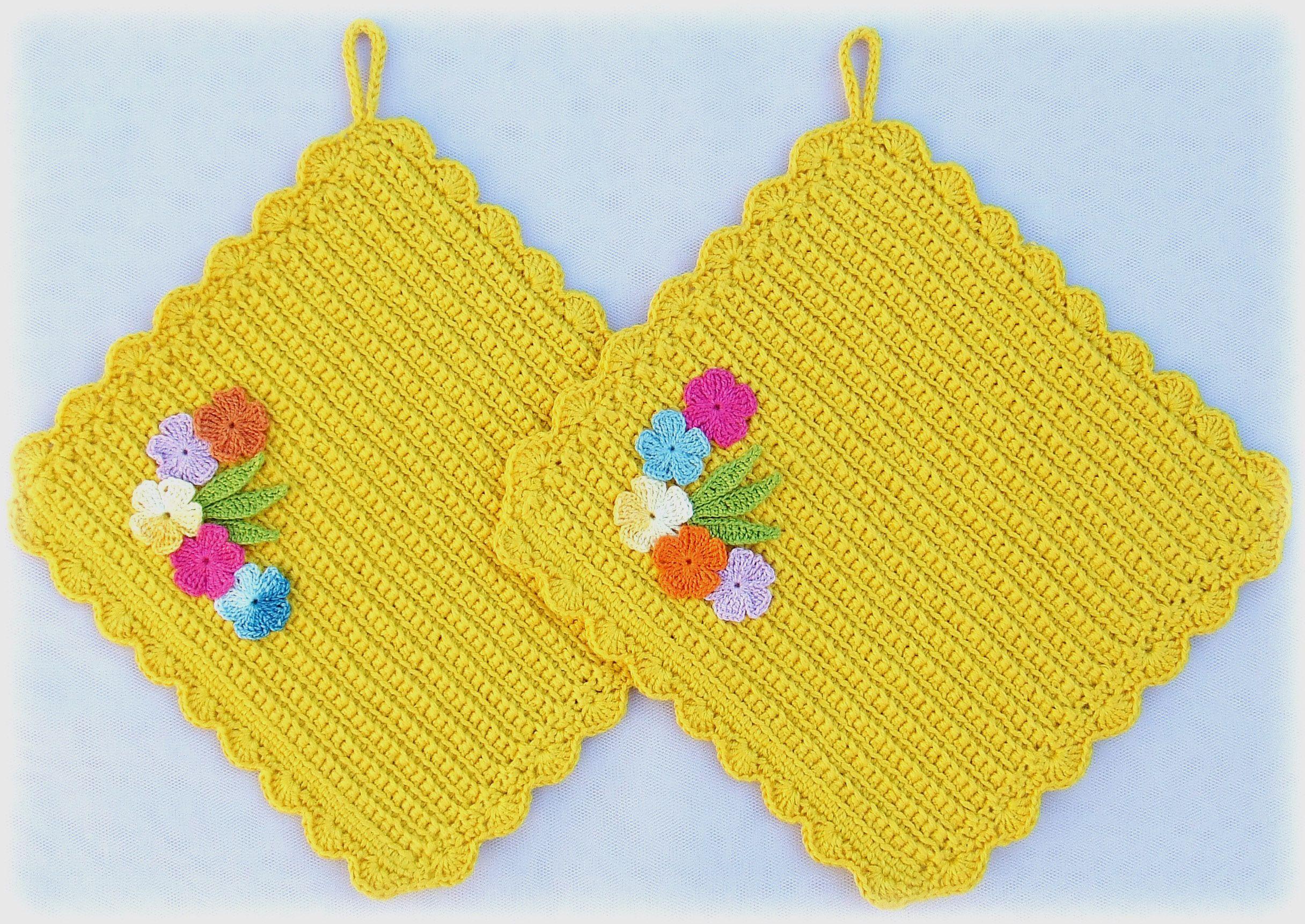 flower yellow home kitchen knitting