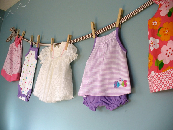 children baby decorate shower room