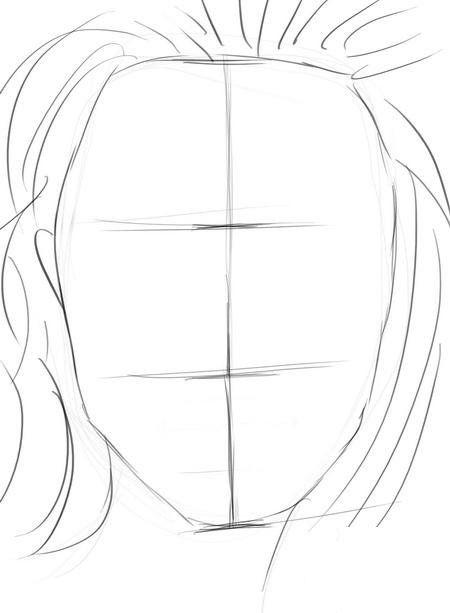 female face draw pencil art