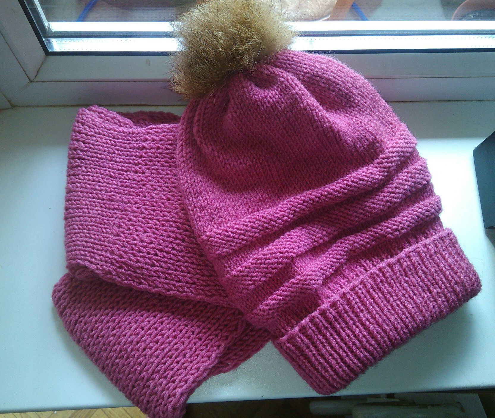 scarf pink clothes hat winter fur
