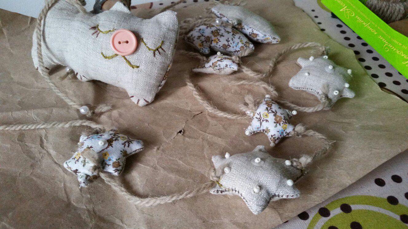 beads home flax garland