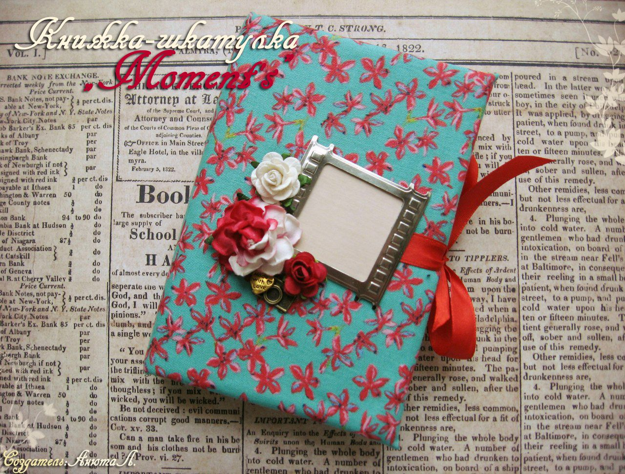 book paper jewelry box pink