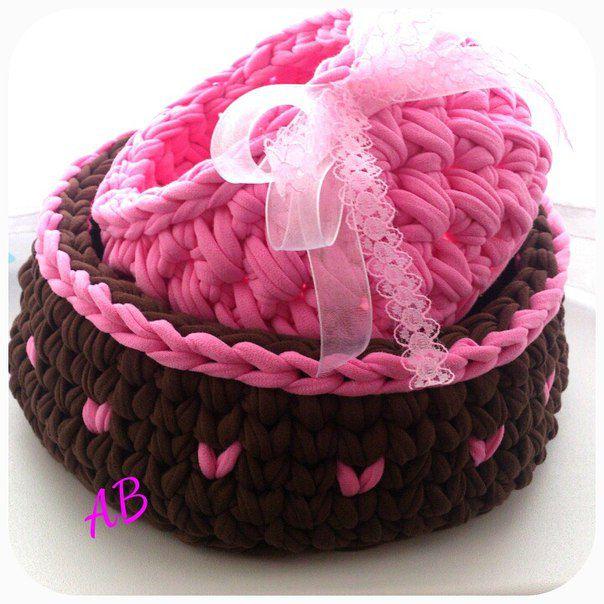 handmade handmadegift gift basket originalgift giftforagirl interiorbasket knit