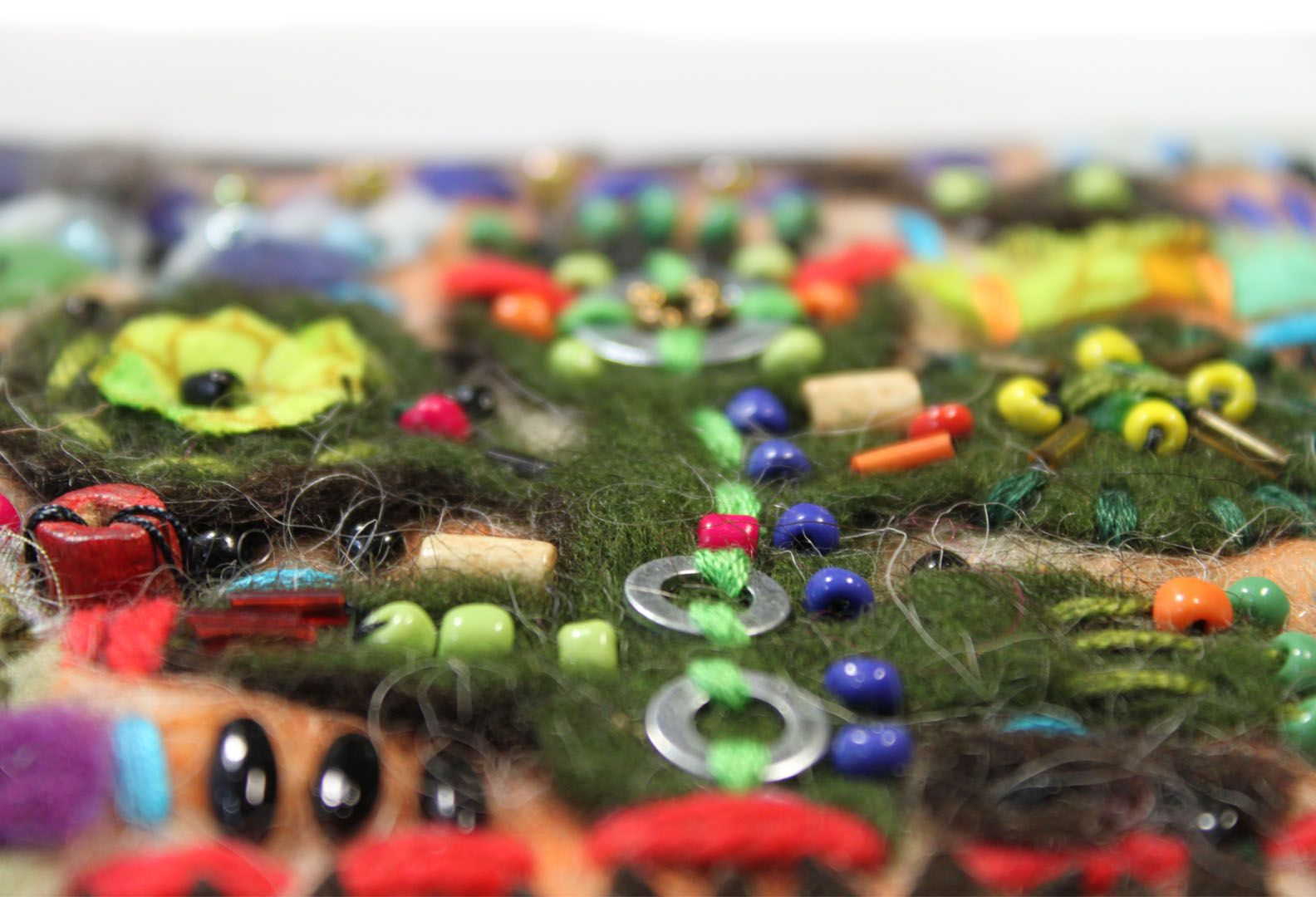boho interior colorful textile felt