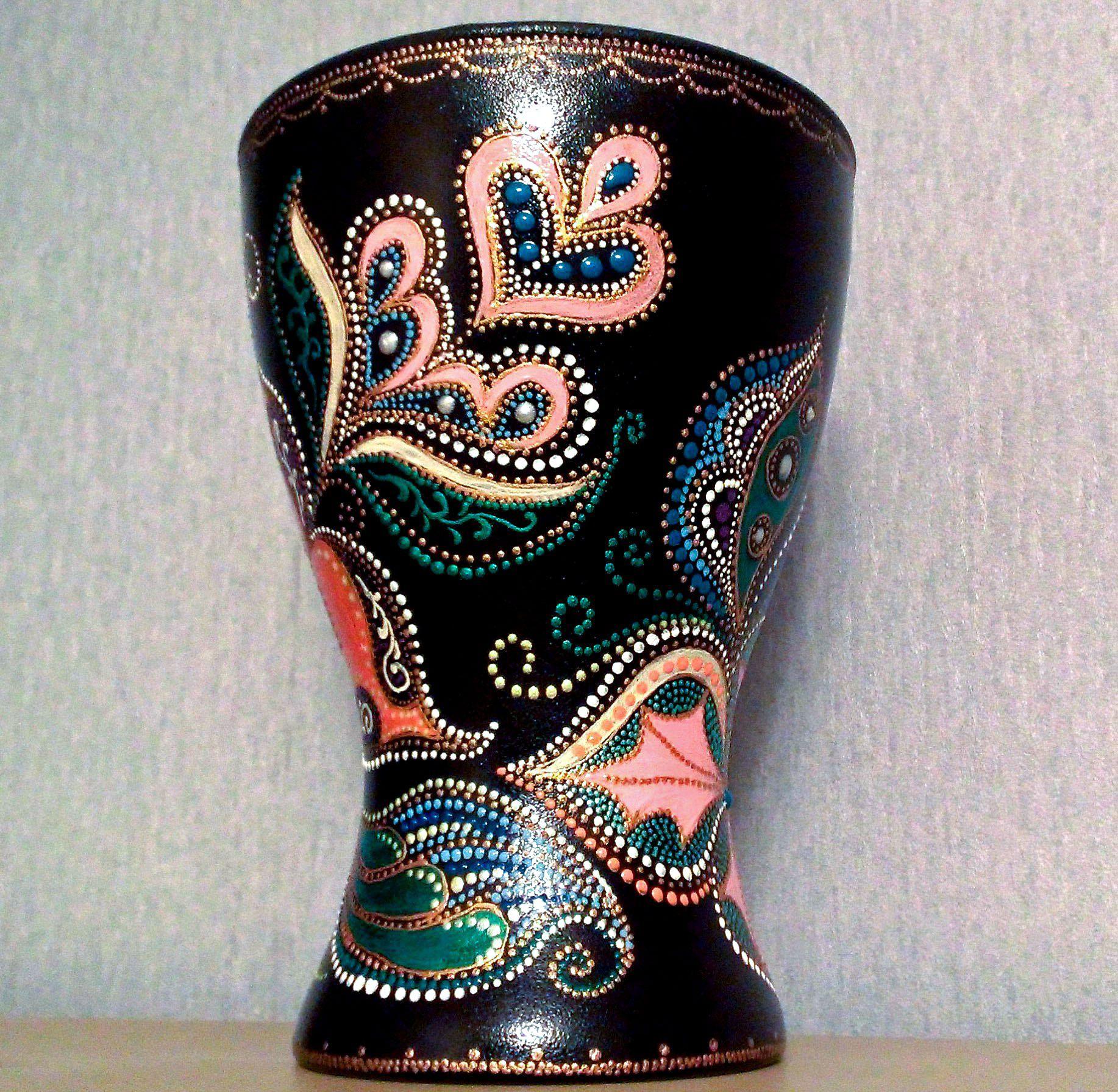 ornamental oriental vase handmade