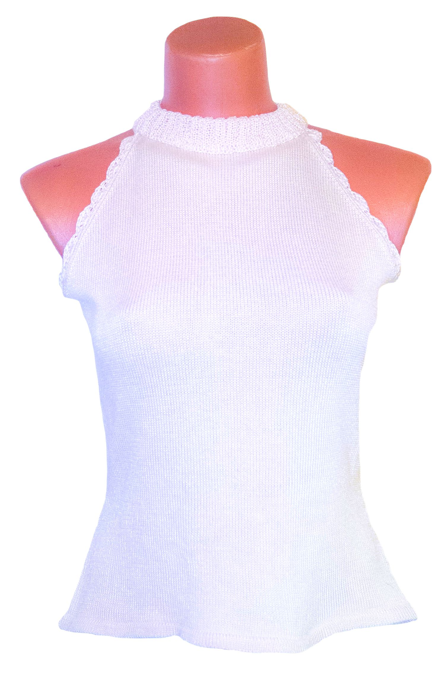 clothes top yarn white