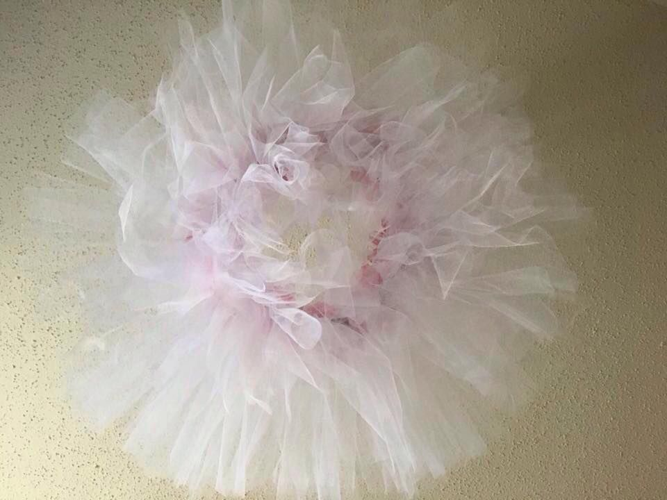 baby with flower gift tutu flowers shower mobile