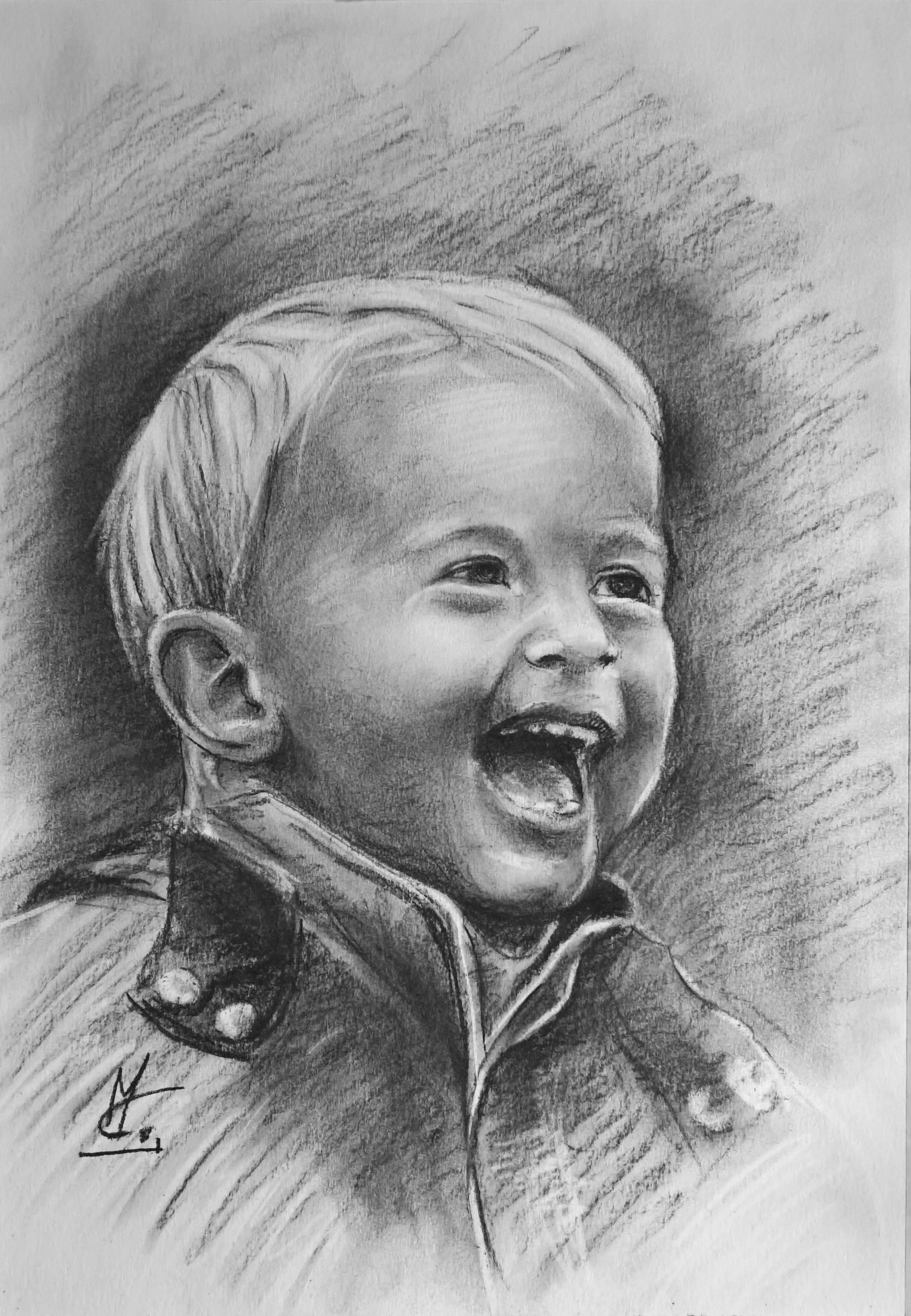 custom portrait portraitgift giftforher childportrait art fineart