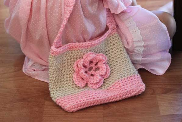 bag goods crochet textile thread