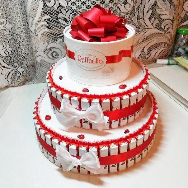cake gift present diy giftidea raffaello kindersurprise creativeidea handicraft inspiration creative