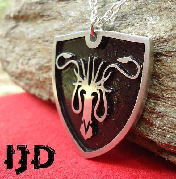 game pendant thrones accesories mediveal grayjoy necklace got octopus sigil epic