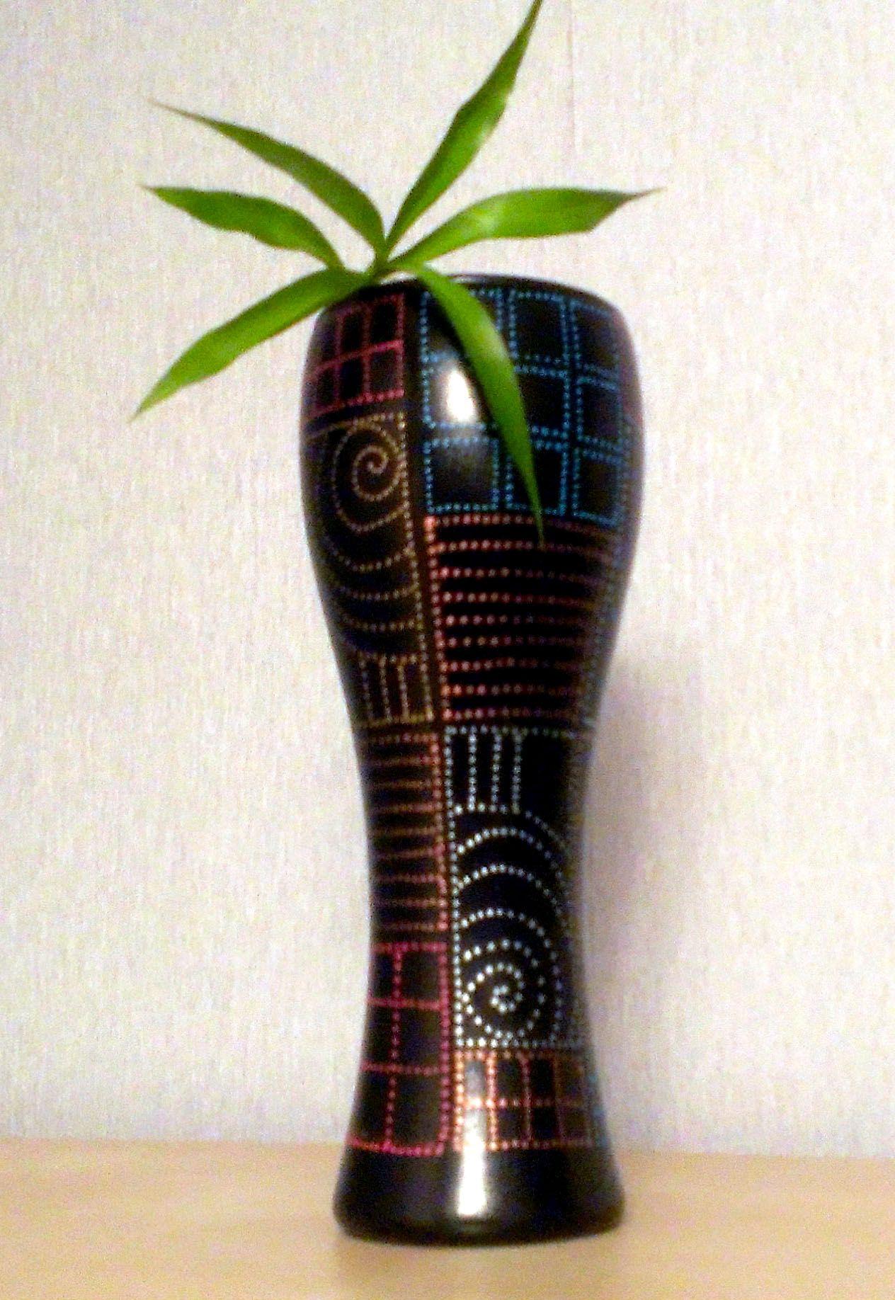 handmade gift present flowers vase design ornament