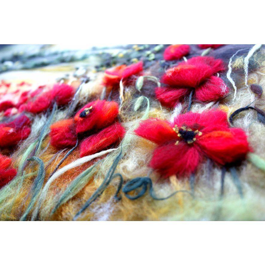 wool poppies painting watercolor