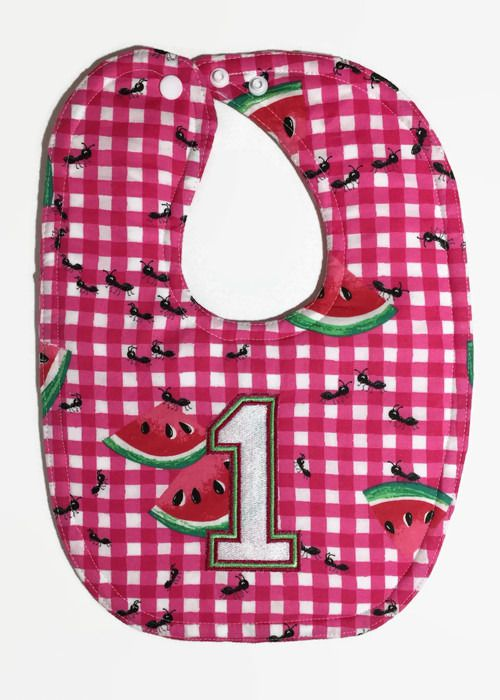birthday baby cake clothes smash watermelon dribble 1st gifts girls bibs picnic bib magenta for party