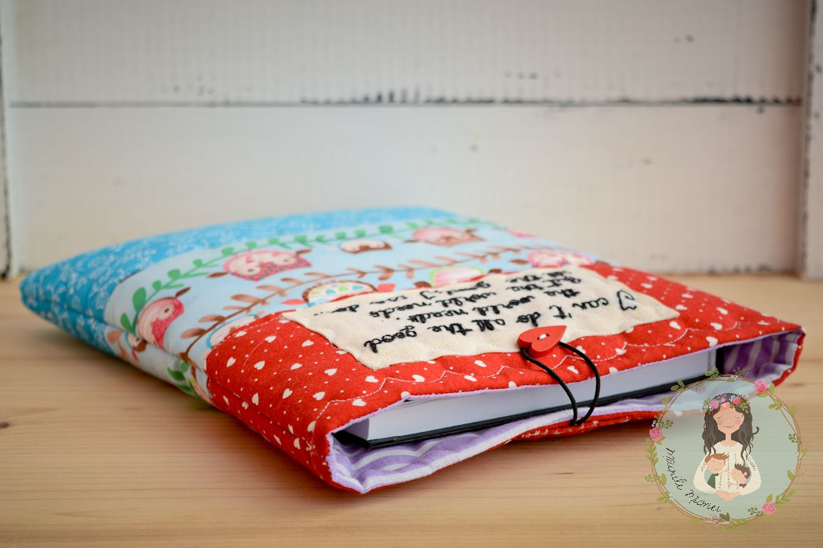 cover teal gift reading personalized quote quilted red book hearts buddy owls bookworm sleeve fabric for