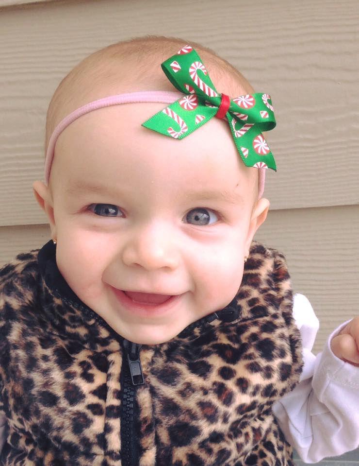 nylon cane bows headbands bow candy christmas headband