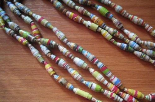 crafts decoration paper beads make