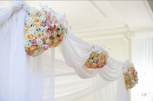 flowers decorate holidays arch wedding