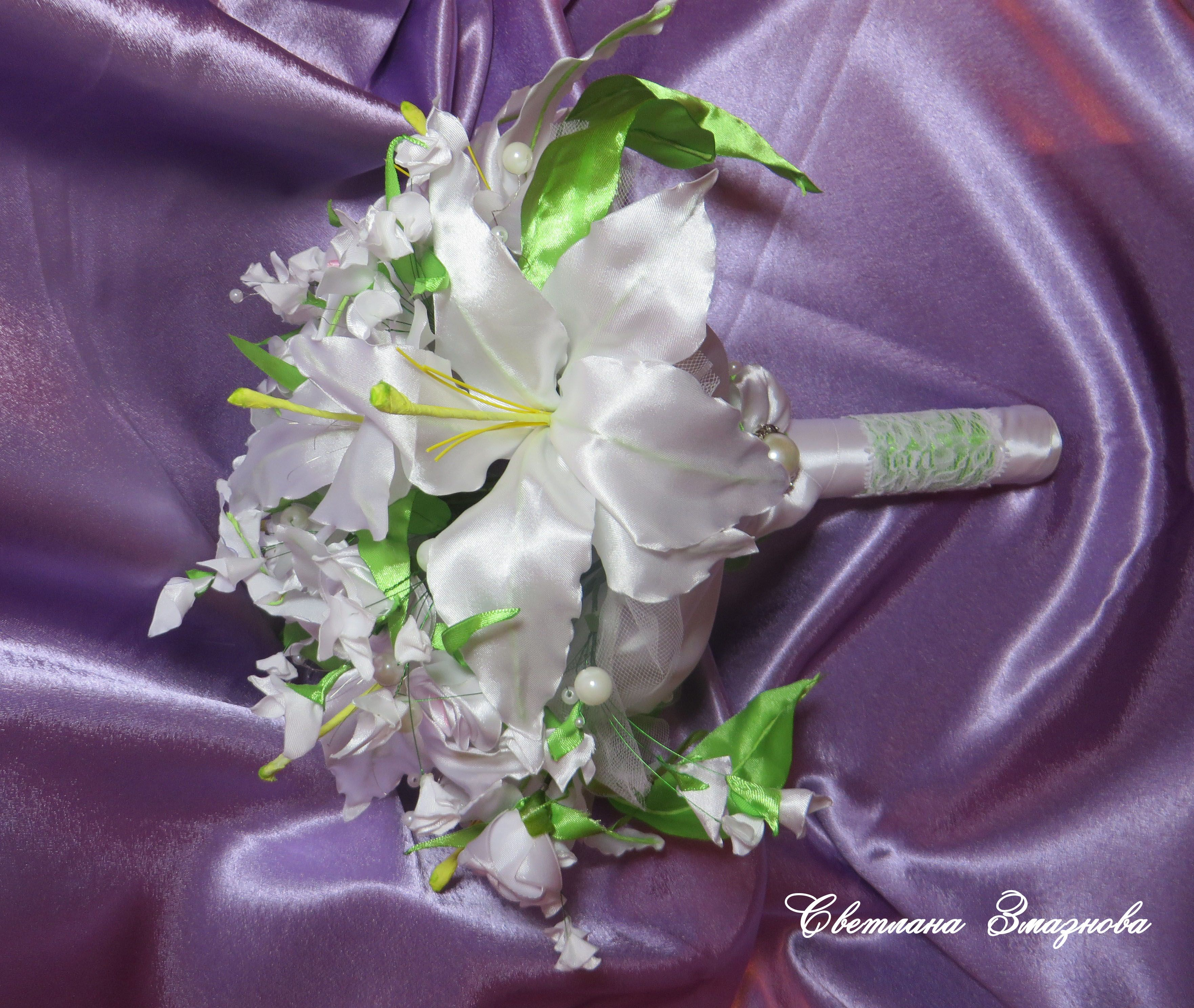 textile bride bouquet wedding