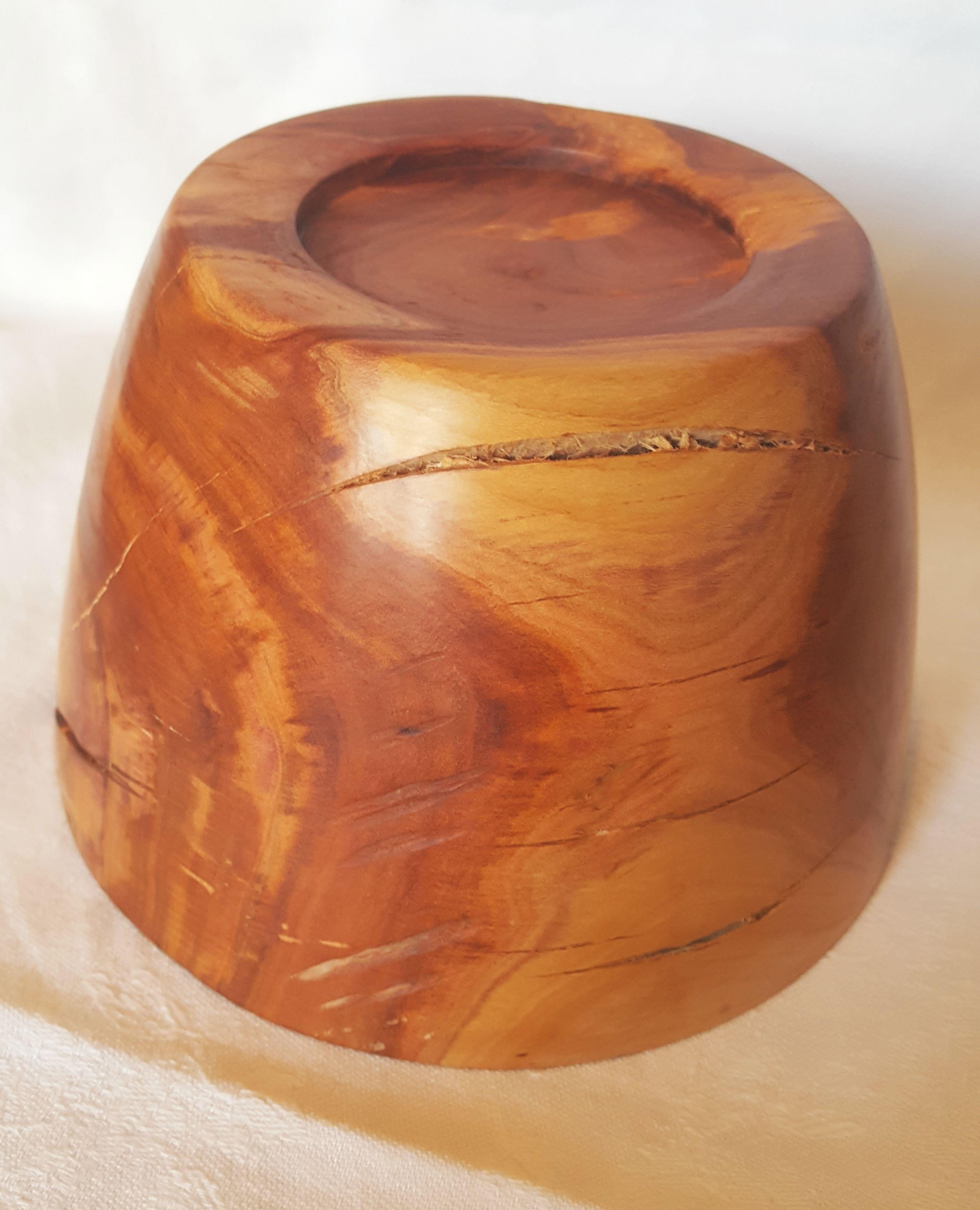 woodturning plum handmade wood bowl