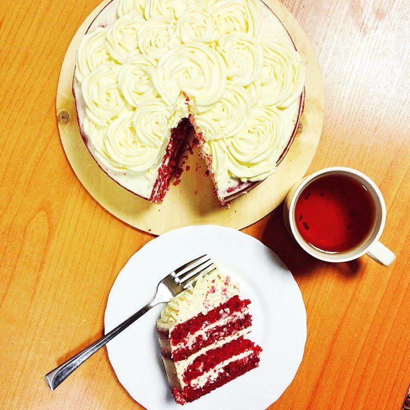handmade cake yummy redvelvet