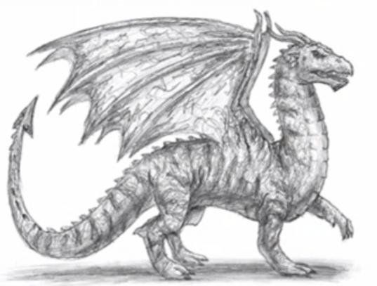 dragon draw pencil painting art