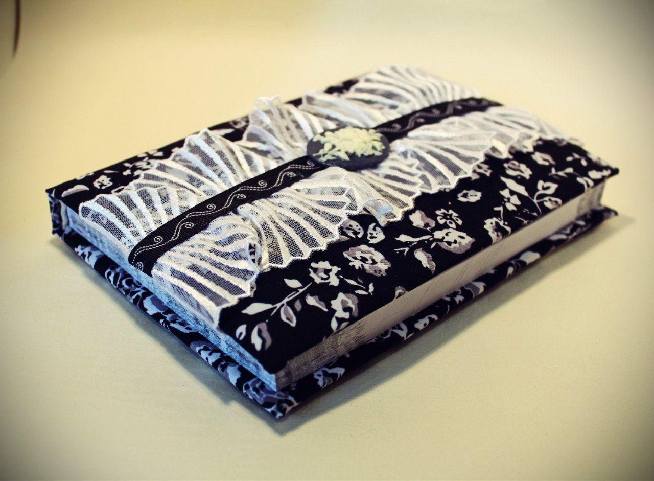 handmade notebook romantic diary gothic black