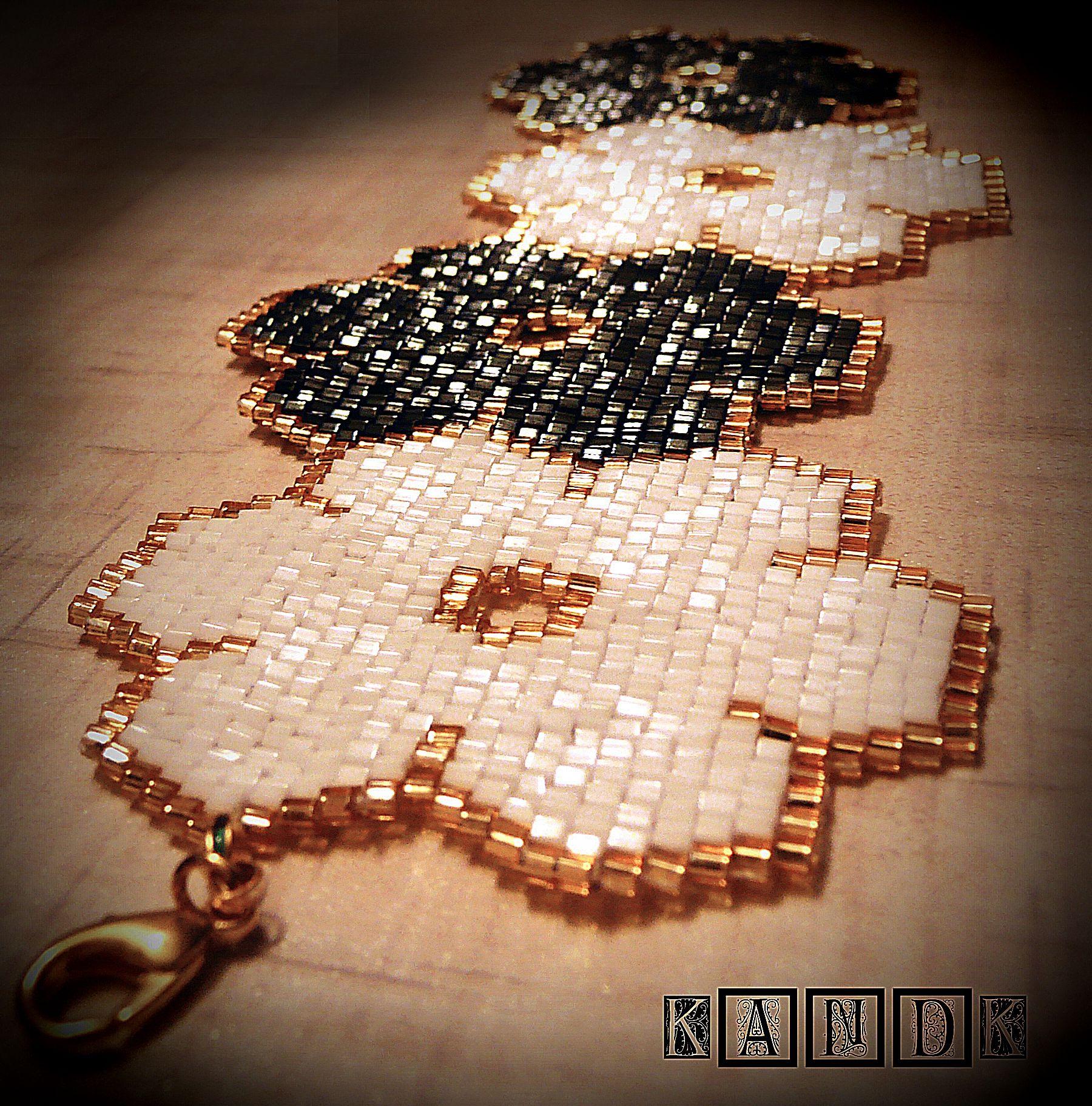 flowers handmade bracelet beads kandk