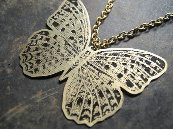nature pendant gift butterfly jewelry necklace design